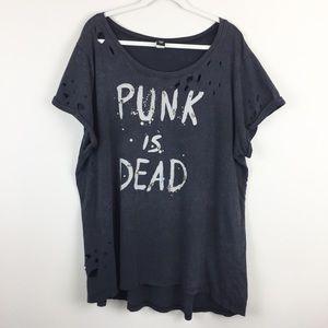 Torrid Distressed Punk is Dead Top